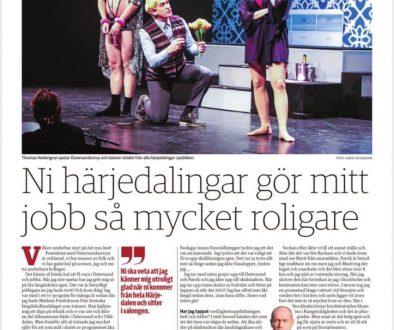 Krönika i Tidningen Härjedalen